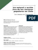 Desastre Natural y Acción Colectiva de Los Sectores Naturales