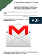 Como Configurar El Correo De Outlook Y Hotmail En IPhone