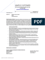 federal sample resume