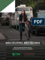 Más Ciclistas, Más Seguros. Guía de intervenciones para la prevención de lesiones ciclistas