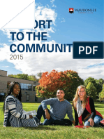 Report to the Community 2015