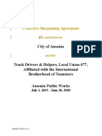 Ansonia DPW Contract