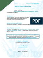 Comunicación Oral y Escrita en Lengua Originaria Nivel Básico - Guaraní 1