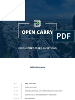 Dallas Open Carry FAQ