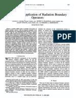 Theory and Application of Radiation Boundary Operators - Moore T.G., Blaschak G.B, Taflove a, Kriegsmann G. a - 1988
