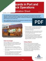 Hazards in Port and Docks Info Sheet