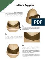Folding a Puggaree