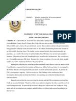 Statement of Fifth Judicial Circuit Solicitor Dan Johnson