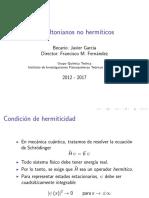 Hamiltonianos no hermíticos