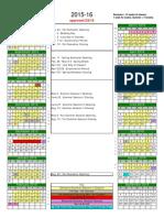 Semester Calendar 2015 16 Approved
