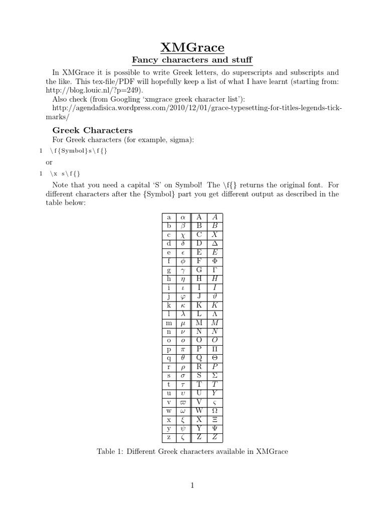 Xm grace symbols greek alphabet text biocorpaavc Images