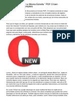 """Leer On line """" Bajo La Misma Estrella """" PDF O bien Descargar Libro Completo"""