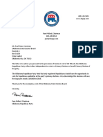 OKGOP Letter Closed Primary Election Declaration