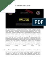 Undang-undang Tentang Cyber Crime