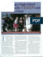 mcgreevy developing a high school model with mission and grace in mind
