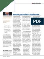 schmoker refocus professional development