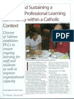 salina creating and sustaining a structured professional learning community