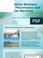correlation between natural phenomena and global warming