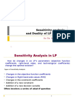 Sensitivity Analysis and Duality of LP Problems