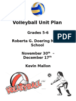 volleyball unit plan real