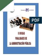 finalidades de la administracion publica
