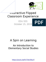 interactive flipped classroom experience
