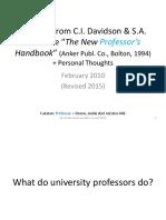 Being a University Professor v2015
