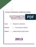 Practica 1 - Fotometria