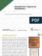 Historia e Introducción a La Geometría Descriptiva
