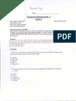 FM-I Quiz-3 Answer Key