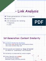 Cse535 Link Analysis
