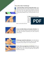 Procedure in Foot Massage