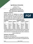 admissions application king solomon university