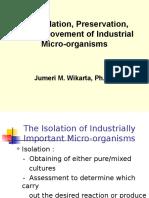 3. Isolasi, Preservasi, Dan Perbaikan M.O Industri