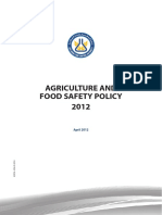 Agriculture and Food Safety Policy 2012