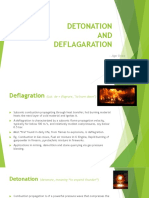 Detonation & Deflagration Difference(Basic)