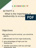 Biodiversity Activity 4 PPT