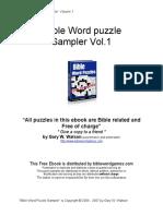 Bible Puzzle Sampler