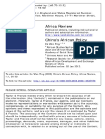 China's African Policy  Driving Forces, Features and Global Impact  by He Wen Ping