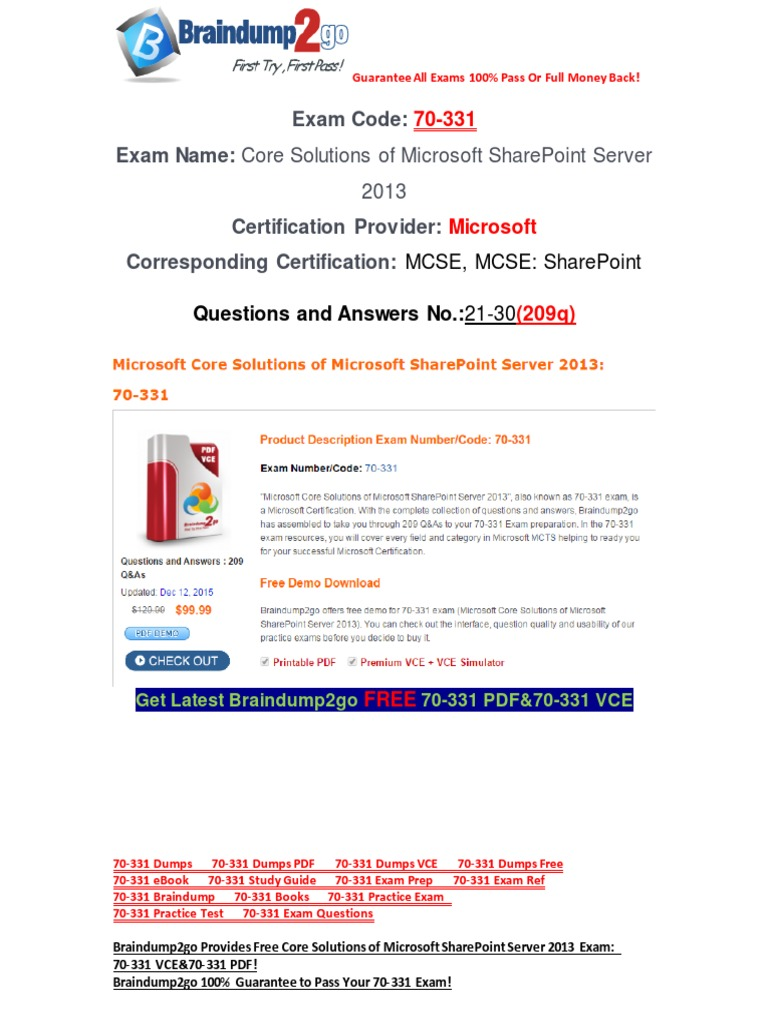 Freebraindump2go latest 70 331 exam questions 21 30 share point freebraindump2go latest 70 331 exam questions 21 30 share point test assessment 1betcityfo Choice Image