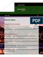 City of Rock Falls - 2014 Electric Rates