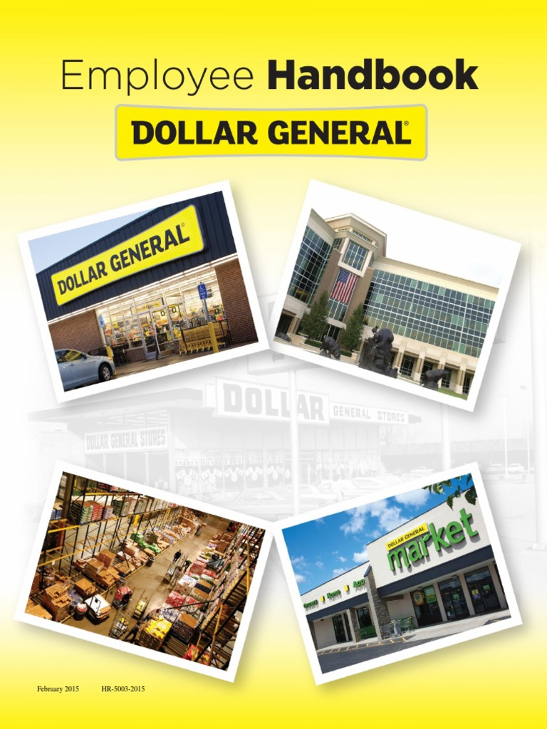 Dollar General Employee Handbook | Harassment | Discrimination