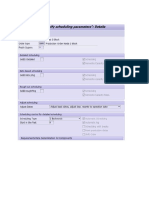 Capacity Planning Settings