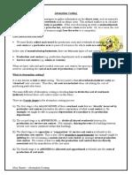 Absorption Costing Worksheet