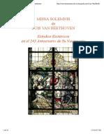 Estudios Esotericos a La Missa Solemnis de Beethoven