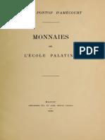 Monnaies de l'École Palatine / Vte de Ponton d'Amécourt