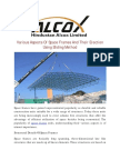 Various Aspects Of Space Frames And Their Erection Using Sliding Method