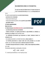 Determinarea Densitatii Urinei Cu Picnometrul