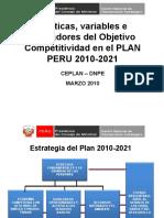 Competitividad en el Plan Perú CEPLAN 2010[1]