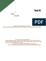 GRE Math Practice Test 14